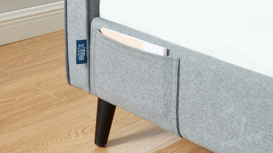 LE CHOUETTE MATELAS - Lit adulte 140x190 cm en tissu gris clair