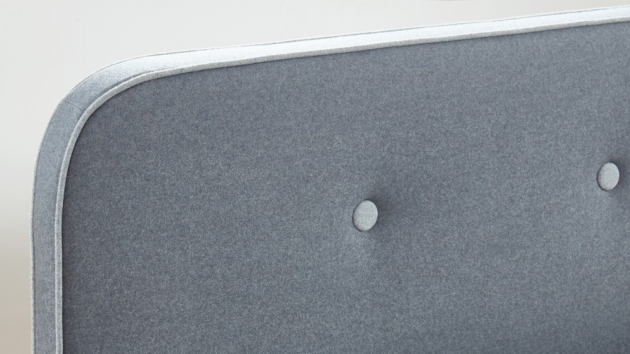 LE CHOUETTE MATELAS - Lit adulte 140x190 cm en tissu gris anthracite
