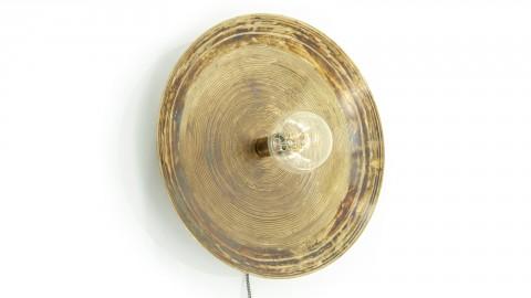 Applique / Lampe à poser en métal bronze -Taille L - Collection Horus