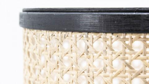Cache pot en bambou et rotin piètement métal - Taille S - Collection Rider