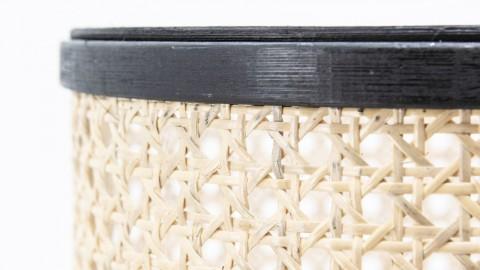 Cache pot en bambou et rotin piètement métal - Taille L - Collection Rider