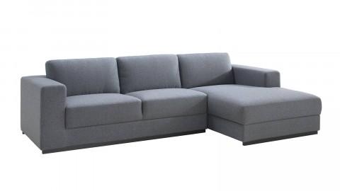 Canapé d'angle droit 3 places en tissu gris - Collection Alingsås