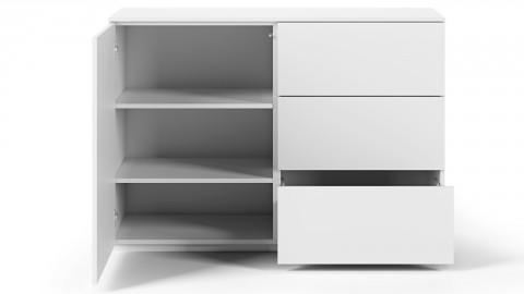 Commode 1 porte 3 tiroirs en contreplaqué blanc - Collection Join - Temahome