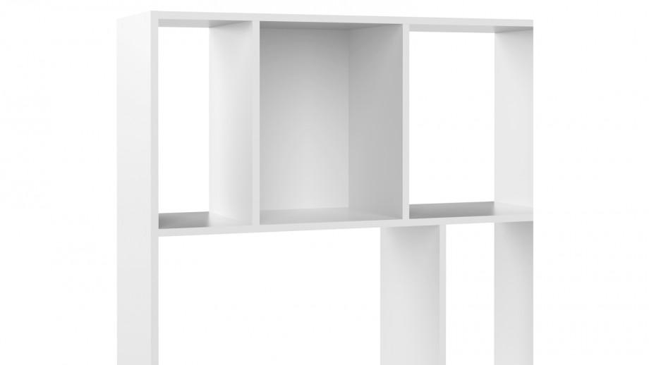 Bibliothèque 10 niches en bois blanc - Collection Toronto - Temahome