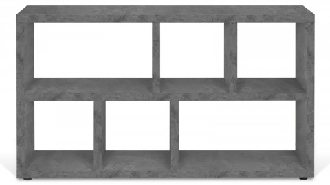 Meuble de rangement 6 niches effet béton - Collection Berlin - Temahome