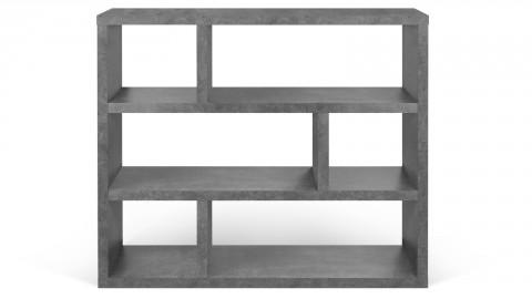 Etagère basse 3 niveaux effet béton - Collection Berlin - Temahome