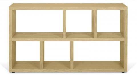 Meuble de rangement 6 niches en contreplaqué chêne - Collection Berlin - Temahome