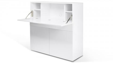 Secrétaire en contreplaqué blanc - Collection Focus - Temahome