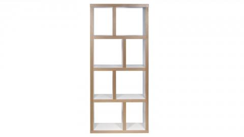Etagère 4 niveaux 70cm en bois effet naturel et blanc - Collection Berlin - Temahome