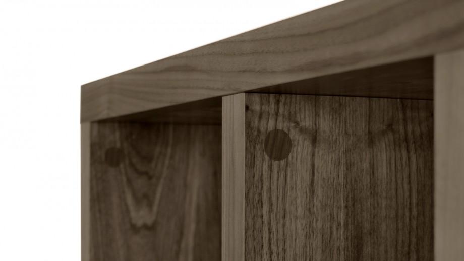 Etagère 4 niveaux 150cm noisette - Collection Berlin - Temahome