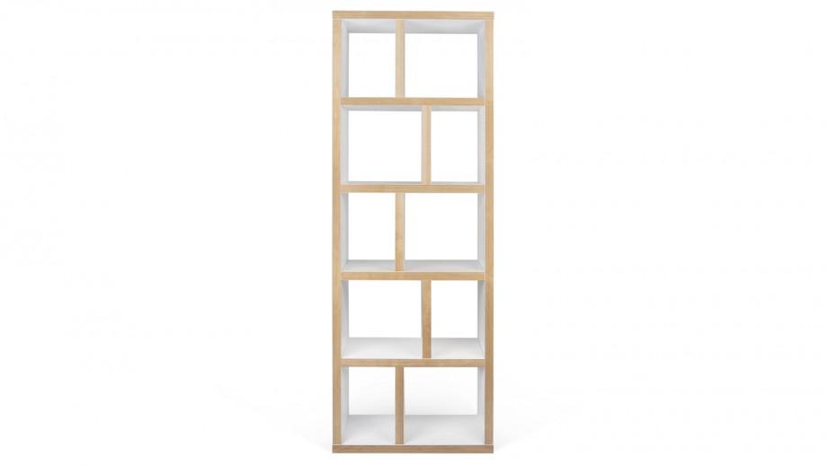 Etagère 5 niveaux 70cm en contreplaqué naturel et blanc - Collection Berlin - Temahome