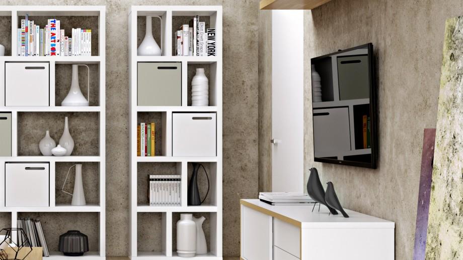 Etagère 5 niveaux 70cm blanche - Collection Berlin - Temahome