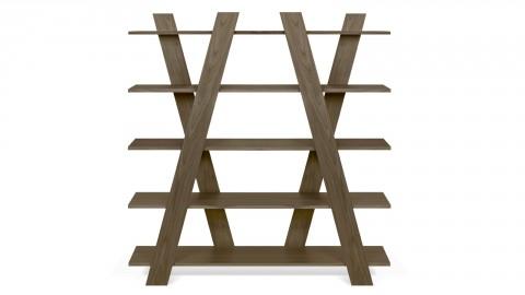 Etagère croisée en bois foncé - Collection Wind - Temahome