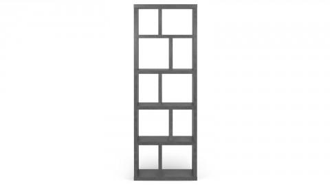 Etagère - Bibliothèque 5 niveaux 70 cm effet béton - Berlin - Homifab