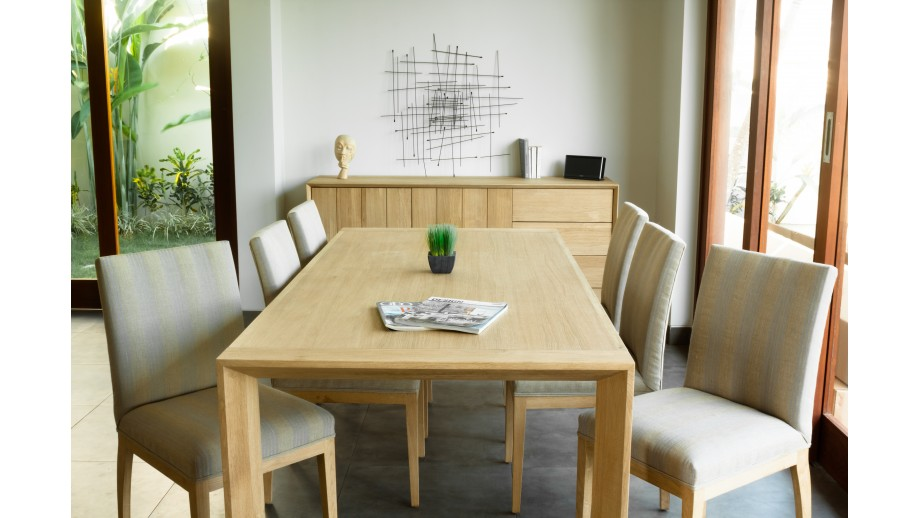 Kalmar Table à manger en chêne massif 200cm