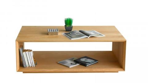 Table basse en chêne massif avec une niche de rangement - Collection Kalmar