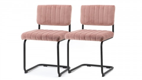 Lot de 2 chaises en velours vieux rose - Collection Chair