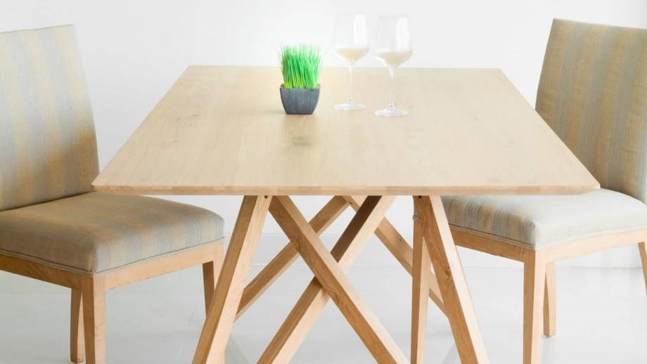 Höganäs Table à manger en chêne massif 180cm