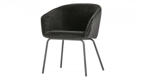 Lot de 2 chaises en velours noir piètement métal - Collection Sien - Woood