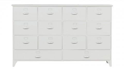 Meuble de rangement 14 tiroirs en métal blanc - Collection Archive - Vtwonen