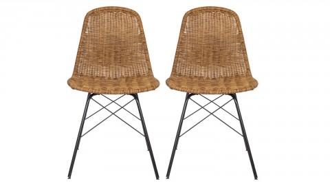 Lot de 2 chaises aspect rotin - Collection Spun - BePureHome