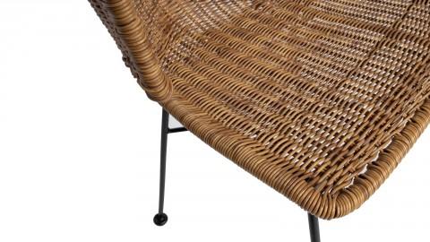 Lot de 2 chaises imitation rotin piètement métal - Collection Noor - Woood