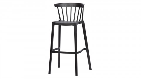 Lot de 2 tabourets de bar en plastique noir - Collection Bliss - Woood