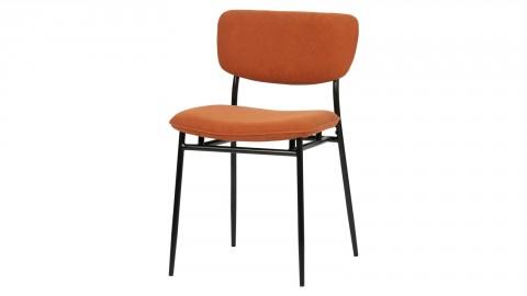 Lot de 2 chaises en velours cotelé orange - Collection Dané - Woood