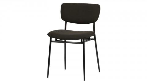 Lot de 2 chaises en velours cotelé anthracite - Collection Dané - Woood