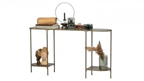 Table d'appoint en métal brossé laiton antique - Collection Federal - BePureHome