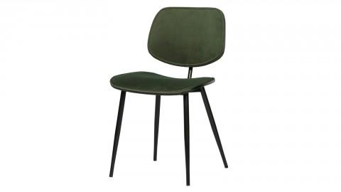 Lot de 2 chaises en velours vert piètemen métal - Collection Jackie - Woood