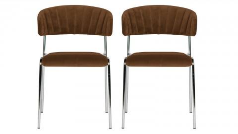 Lot de 2 chaises en velours blossom - Collection Twitch - BePureHome