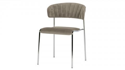 Lot de 2 chaises en velours pale - Collection Twitch - BePureHome