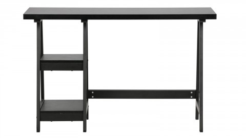 Bureau en bois noir avec étagères latérales - Collection Senn - Woood
