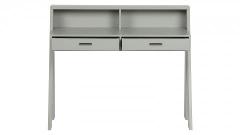 Secrétaire 2 tiroirs en pin gris béton - Collection Connect - Woood