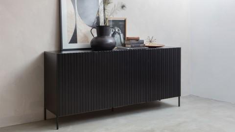 Commode 3 portes en pin noir - Collection Gravure - Woood