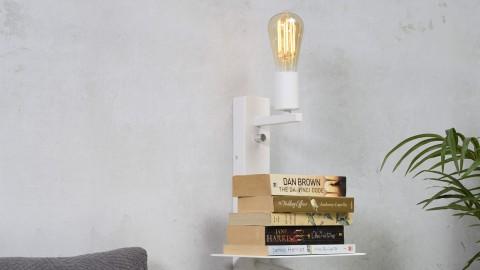 Applique en métal blanc avec lampe de lecture, port USB et étagère - Collection Florence - It's About Romi