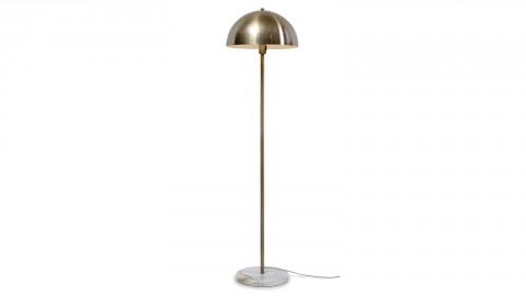 Lampadaire base en marbre blanc abat jour en métal doré - Collection Toulouse - It's About Romi