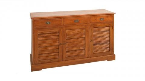 Buffet colonial 3 portes 3 tiroirs en teck - Collection Api