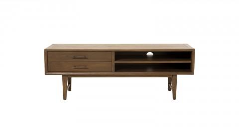 Meuble TV 2 tiroirs 2 niches en mindi - Collection Lara