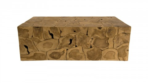 Table basse en teck nature - Collection Sam