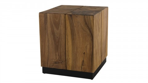 Table d'appoint carrée en bois suar - Collection Sam