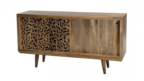 Buffet en manguier 2 portes coulissantes Jaipur - Collection Indra