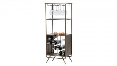 Meuble de rangement 16 bouteilles et verres 2 étagères en métal - Collection Vadim - Woood