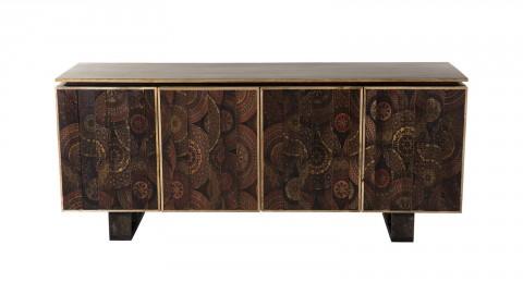 Buffet en manguier 4 portes Katmandou - Collection Indra