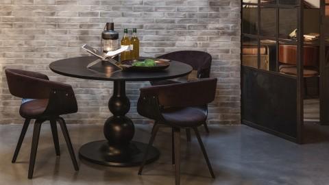 Table à manger ronde ø120cm en manguier noir - Collection Blanco - BePureHome