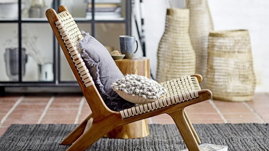 Fauteuil en teck et rotin - Collection Keila - Bloomingville