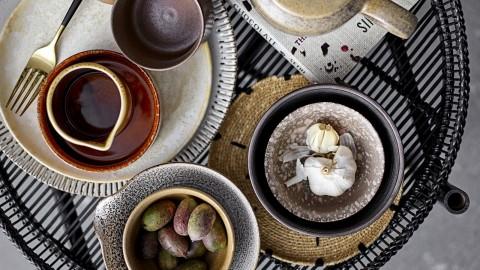 Table d'appoint en bambou noir - Collection Caroline - Bloomingville
