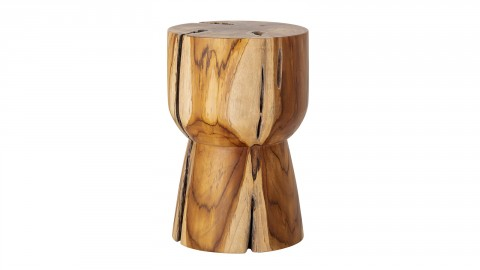 Table d'appoint ronde en teck - Collection Gaia - Bloomingville