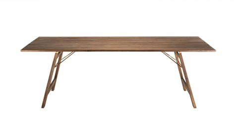 Table de jardin 6/8 personnes rectangulaire pliante 220x90 cm en bois acacia - Collection Vick